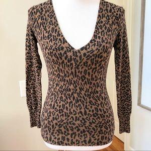 Express Animal Print CHEETAH brown Black Sweater